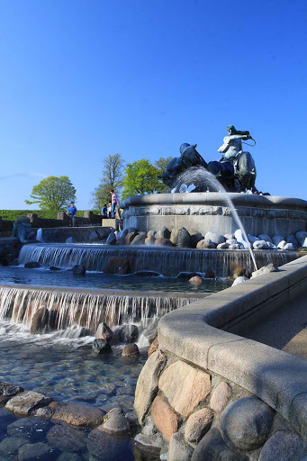 In Copenhagen, the Gefion Fountain is a popular meeting place on the harbor.