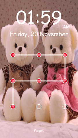 android Teddy Bear Pattern-Bildschirm Screenshot 9
