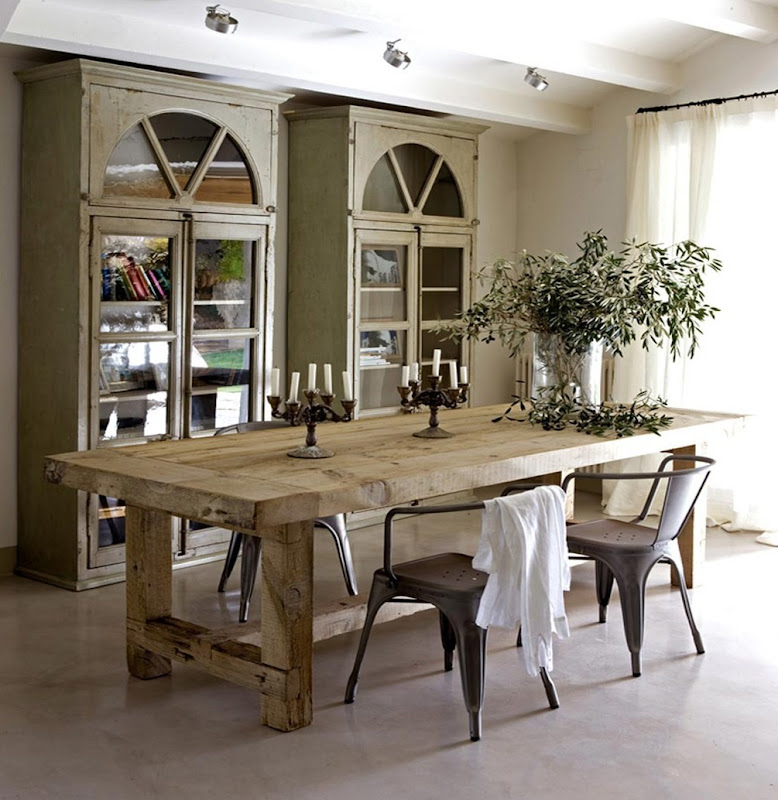 Dining Room Rustic: Greige And The Lovely Tolix Chair