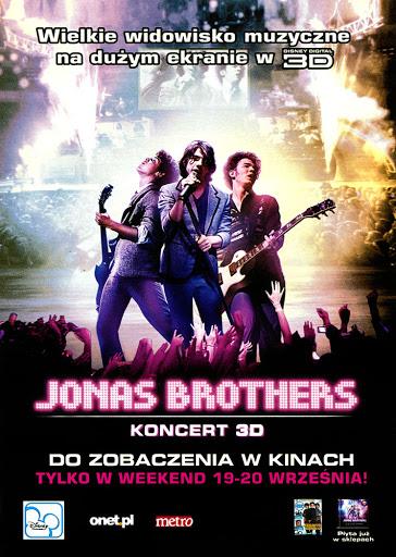 Przód ulotki filmu 'Jonas Brothers - Koncert'