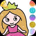 Princess Coloring Book Glitter icon