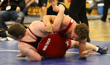 Photo: 285 pounds 1st Place - Round 2 - Michael Kroells (Scott West) won by pin over Sam Stoll (Kasson-Mantorville) (Pin 2:57)