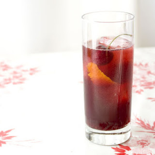 Lillet Rouge and Cherry Cocktail.