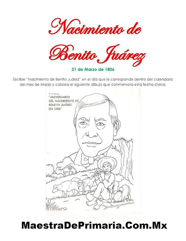 EJERCICIO DEL NACIMIENTO DE BENITO JUÁREZ