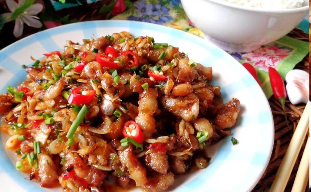Thịt heo rim tép đậm đà, ngon cơm