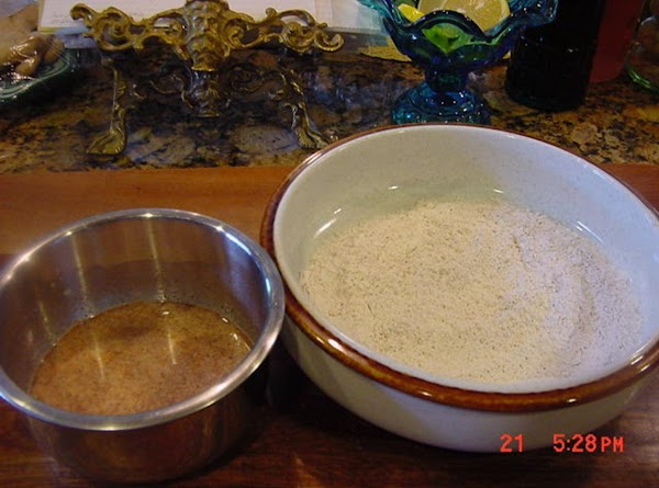 MAKE THE BATTER: Use a small bowl, add the 1/2 cup of buttermilk and 1...