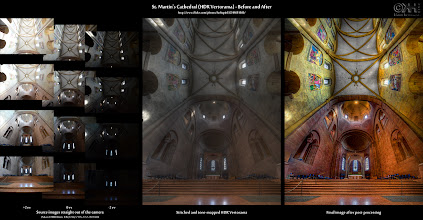 Photo: HDR Before-and-After: St. Martin's Cathedral (HDR Vertorama) ( photo: http://bit.ly/gp-stmart )  This is the before-and-after comparison of the HDR vertorama I posted yesterday. It is an image composed on 4x3 source exposures that were merged into HDRs, tone-mapped and stitched together in Photoshop.  If you are interested in the techniques used for creating this image, take a look at the Resources section below.  Resources 1. Original image on G+: [ http://bit.ly/gp-stmart ] 2. Before-and-After page: [ http://bit.ly/bna-stmart ] 3. HDR Cookbook - Taking Interior HDR Vertorama Shots: [ http://bit.ly/n9em9A ] 4. HDR Cookbook - Taking HDR Vertorama Shots with a Tripod: [ http://bit.ly/hdrc-vertotripod ] 5. HDR Cookbook – Creating HDR Panoramas and Vertoramas: [ http://bit.ly/hdrc-pano ] 6. Flickr photo page: [ http://bit.ly/fr-stmart ] (lots more behind-the-scenes information) 7. List of HDR before-and-after comparisons (largest collection on the web): [ http://bit.ly/hdrc-bna ]