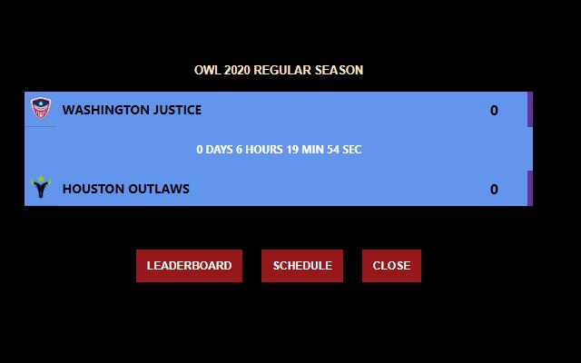 Overwatch League OWL Events Schedule Calendar
