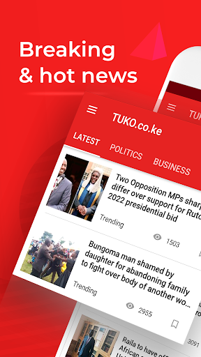 Kenya News: TUKO Hot & Breaking News Free App 9.1.12 screenshots 1