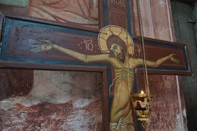 Christus Darstellung im Kloster Gelati.