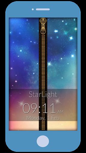 Star Light Zipper Lock Screen