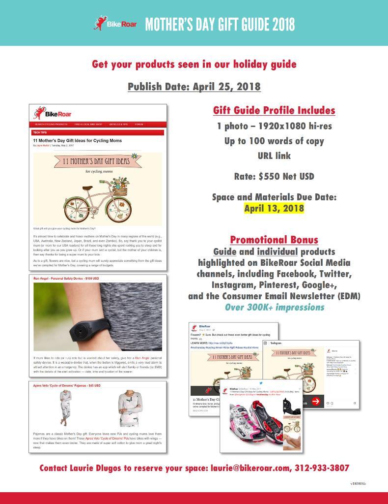 Mother's Day Gift Guide 2018 - BikeRoar