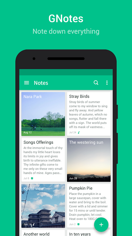 GNotes - Note, Notepad & Memo- screenshot