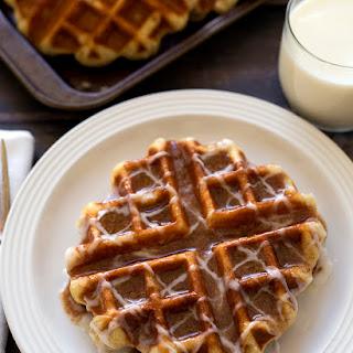 Cinnamon Roll Liege Waffles