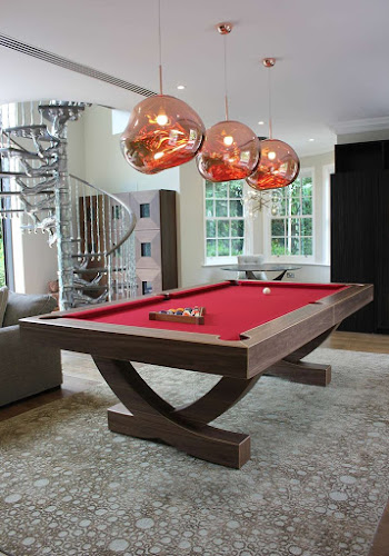 Custom Designed American Pool Table in Stylish Home