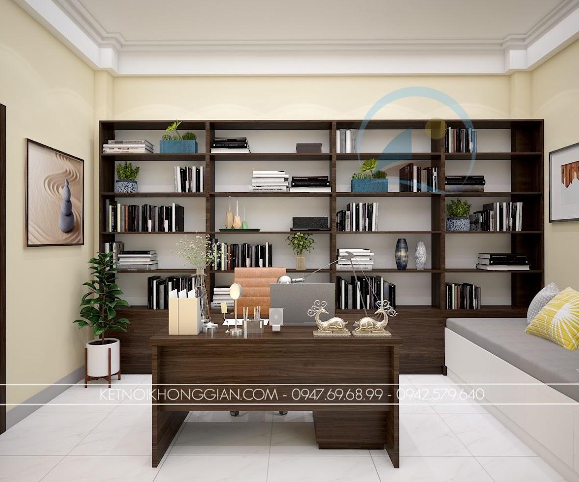 thiết kế phòng làm việc kết hợp phòng đọc sách và thiền 3