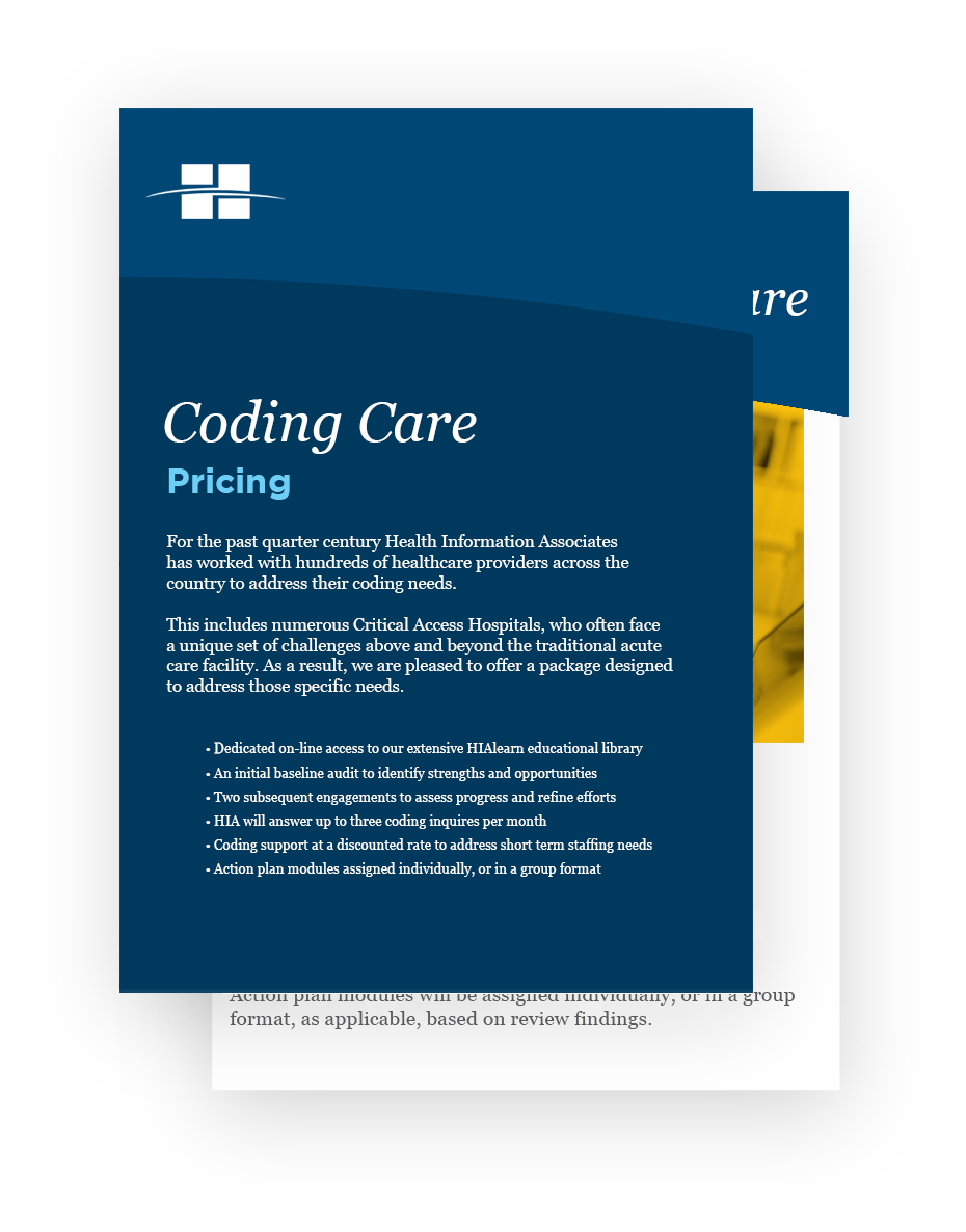 Critical Access Coding Care from Health Information Associates
