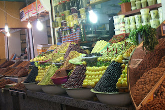 Photo: Olive stand in the souk, Fes