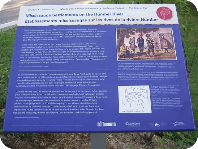 Read the Plaque - Mississauga Settlements on the Humber River
