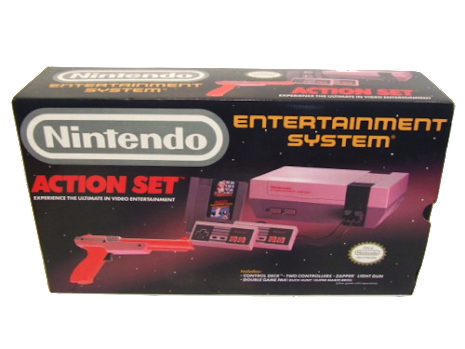 Nintendo Action Set Console, 2 Controllers, SMB/ Duck Hunt, Zapper