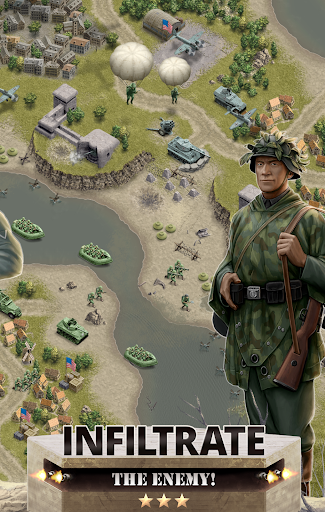 1944 Burning Bridges - a WW2 Strategy War Game 1.5.1 screenshots 3
