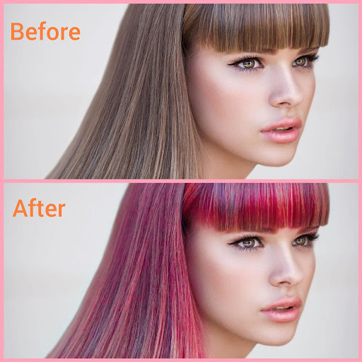 Hair color changer - Try different hair colors 1.5 screenshots 1
