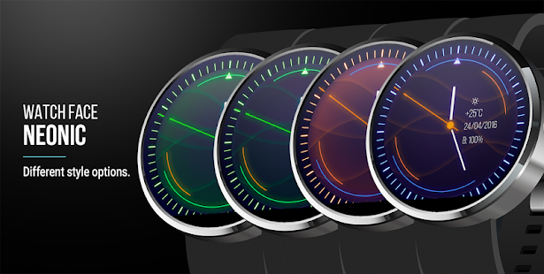 Neonic Nightscape - Watch Face Screenshot