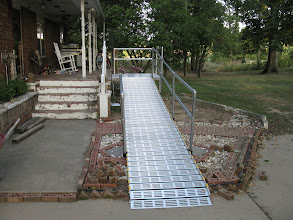 Photo: Handrails can be placed on part or all of the ramp.
