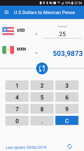 U S Dollar To Mexican Peso Usd Mxn Converter Screenshot 1
