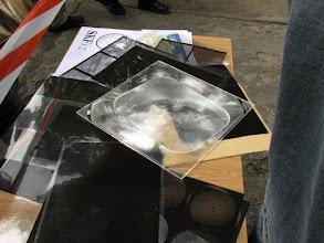 Photo: Soczewka Fresnela na transparencjach do prążków