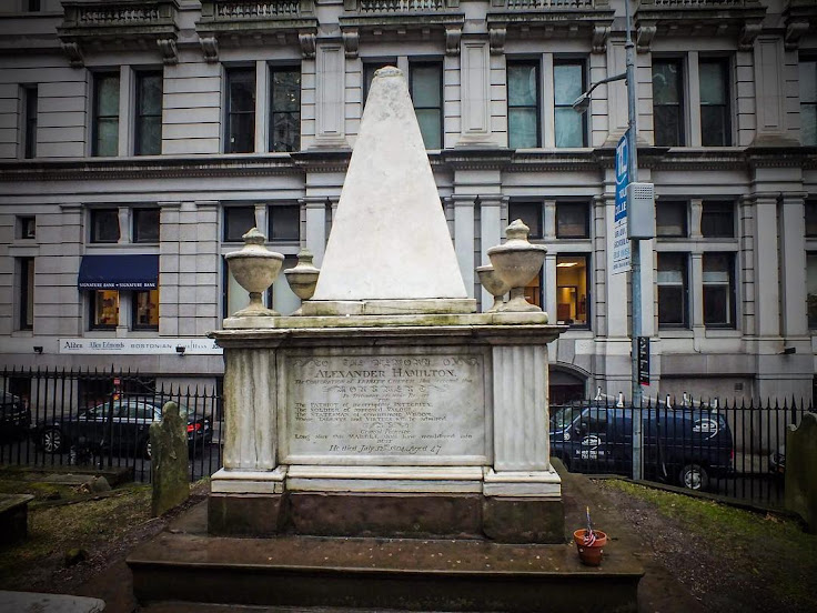 Hamilton's grave at Trinity Church. Photo: gleeksily36.