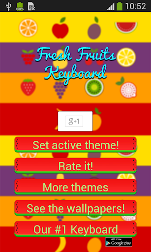 Fresh Fruits Keyboard