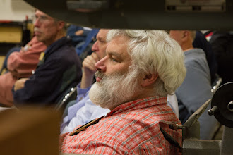 Photo: New member John Laffan takes in the meeting.