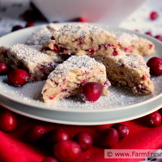Fresh Cranberry Mini Scones