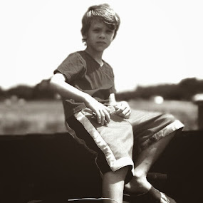 Farm boys by Stacey Witherwax - Black & White Portraits & People