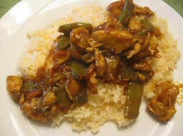 Sweet and Sour Pork served with Orange Rice