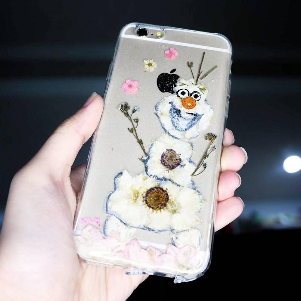 [訂製/custom-made] Olaf Pressed Flower Phone Case