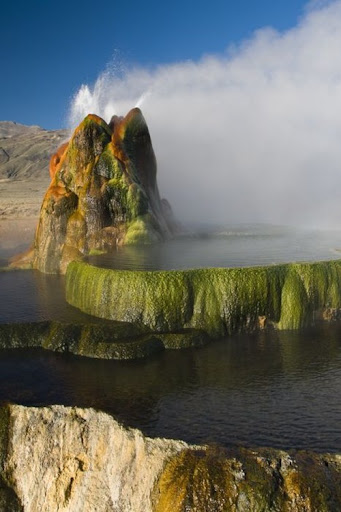 Fly Geyser; Amazing Geyser Landscape in Nevada