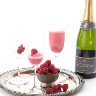 Raspberry Cream Mimosas Recipe