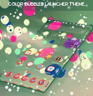 Color Bubbles Launcher Theme - náhled