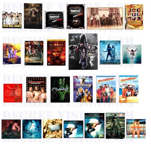 ปก CD Audio, VCD, DVD, Blu-ray  3 มิติ
