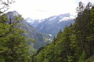 Photo: Das Tal der SOCA liegt vor uns.