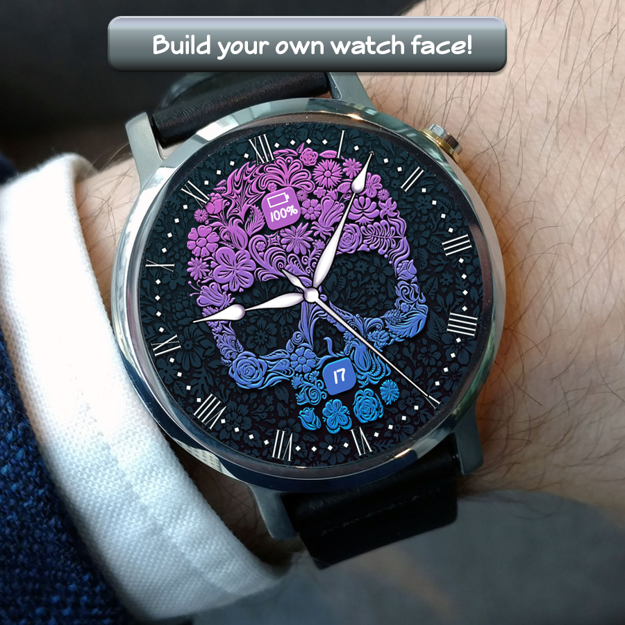Skull Watch Face- screenshot