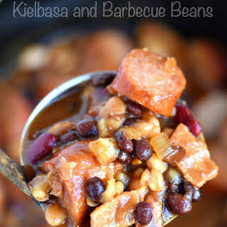 Slow Cooker Kielbasa and Barbecue Beans.
