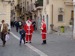 Photo: Double vision Santa