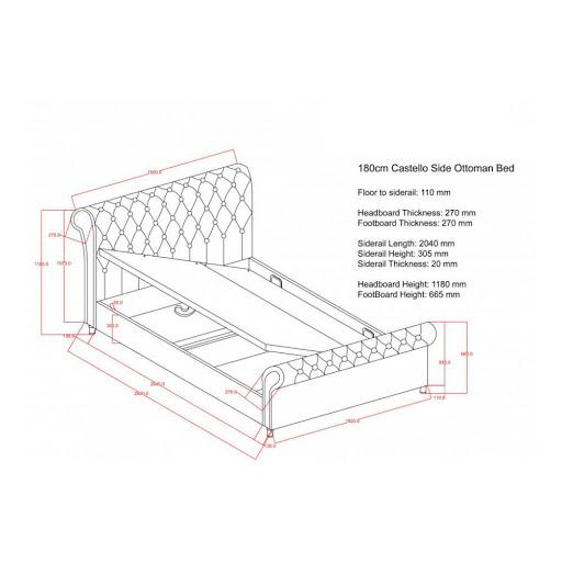 Birlea Castello Ottoman Bed Frame Steel