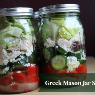 Mason Jar Greek Salad