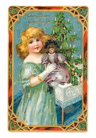 Dolly Vintage Postcard