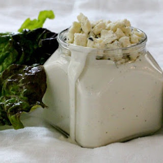 Creamiest Homemade Blue Cheese Dressing.