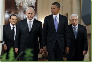 mubarak, netanyahu abbas